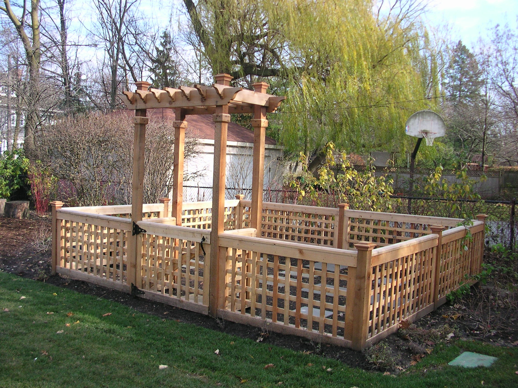 Landscaping on Pinterest | Pergolas, Stone Fence and Garden Stairs